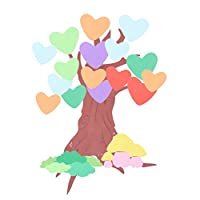Artibetter 漫画の木の壁のステッカー3d取り外し可能な泡の壁のステッカーの子供の部屋の保育園の居間の幼稚園の教室の寝室のためのdiyの壁紙の装飾(ハート)