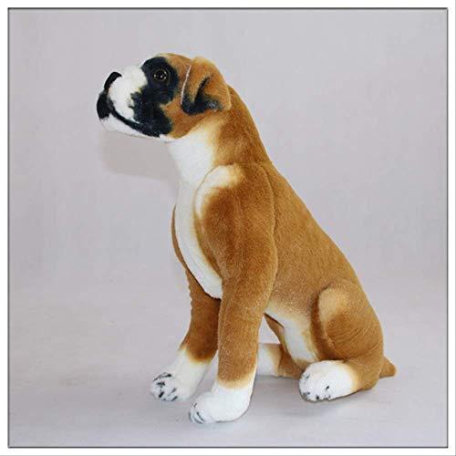 Atmny Beagle Boxer Pug Dalmatians Wolfhound Simulación Perro en Cuclillas Peluche Juguete Muñecas realistas para Perros sentados 55cm 55cm C
