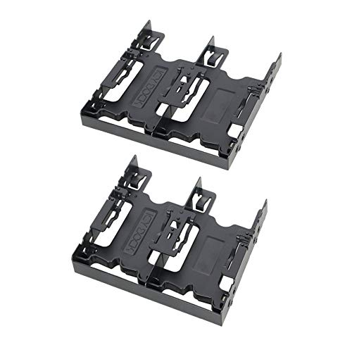 """ICY DOCK Tool-Less Dual 2X 2.5"""" (4 Bays) HDD/SSD Mounting Bracket for External 5.25"""" Bay - Flex-FIT Quattro MB344SP"""