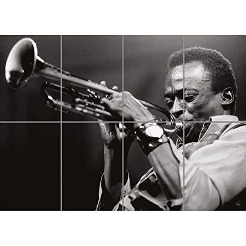 Doppelganger33 LTD Miles Davis Legend Jazz Soul Musician Cool Wand Kunst Multi Panel Poster drucken 47x33 Zoll