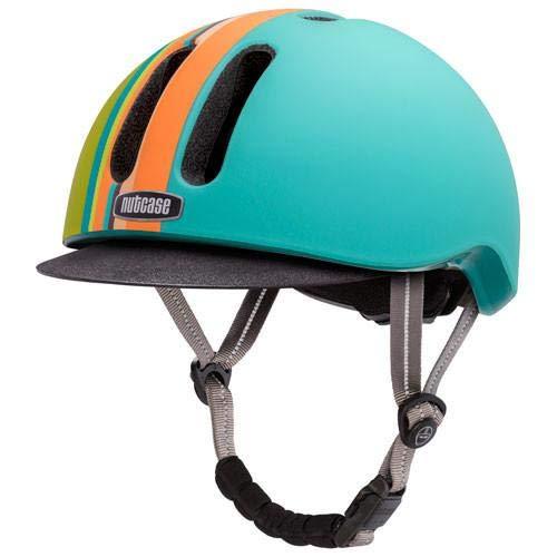 Nutcase Metroride Helm, gestreift, matt, Größe S/M
