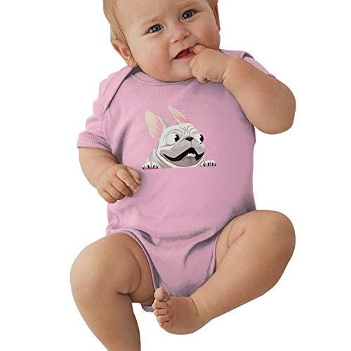 French Bulldog Baby Boys Pijama Unisex Romper Baby Girls Body Infant Kawaii Jumpsuit Outfit 0-2t Niños,Rosa,2 años