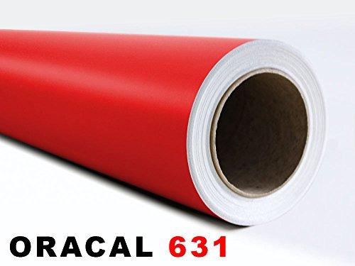 GRAZDesign Oracal 631 zelfklevende folie – geschikt voor meubels en voor het ploten Afmetingen 5 m x 63 cm in 031 rood
