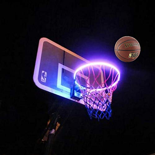 Sale!! Scoteep LED Basketball Hoop Lights, Solar LED Basketball Rim Light Ideal for Kids Adults Part...