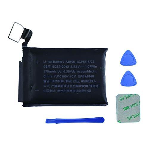 Swark Batería A1848 compatible con Apple Watch Series 3 38 mm GPS + versión Cellular MQJU2LL/A MQKW2LL/A, MQKV2LL/A, MR2W2LL/A, GSRF-MQJQ2LL/A + herramientas