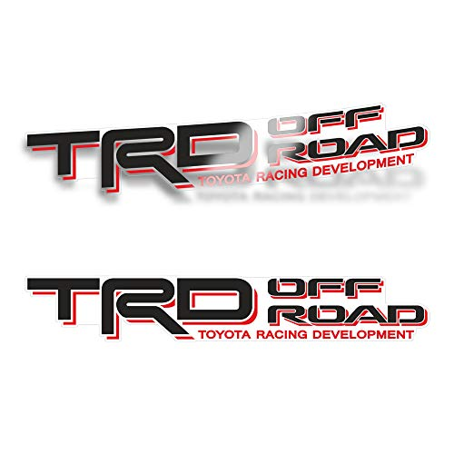 GOLD HOOK TRD Offroad Decals for Tacoma Bed, 4x4 Racing Development Sticker (Set of 2)