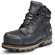 Timberland PRO Men's Boondock 6 Inch Composite Safety Toe Waterproof Industrial Work Boot, Black Full Grain Leather, 11 Wide