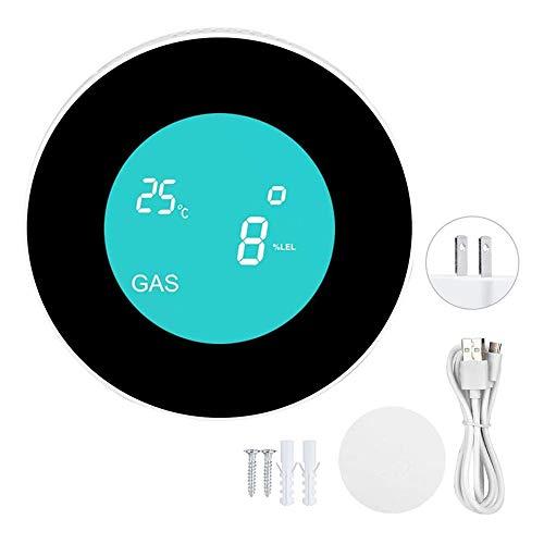 Weskjer Brennbarer Gasdetektor LCD Display WiFi Alarmsensor Tuya Gasdetektionsgerät-Gasdetektionswerkzeug