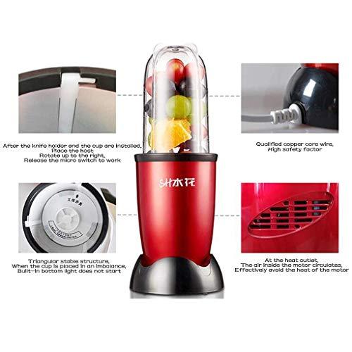 AG Máquina de cocinar Multifuncional para el hogar, licuadora, Leche de SOYA molida, suplemento de Alimentos para bebés, para Alimentos Mixtos,Rojo,A