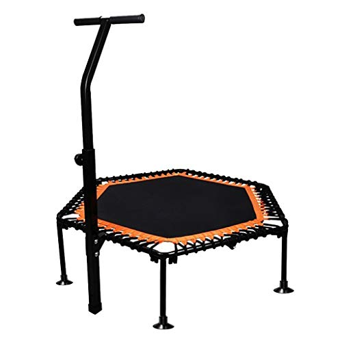 Trampolín para Adultos Trampolín De Gimnasio Trampolín De Hogar para Niños Trampolín Mudo De Alta Elasticidad Trampolín Plegable Plegable Adecuado para (Color : Black, Size : 126 * 126 * 120cm)