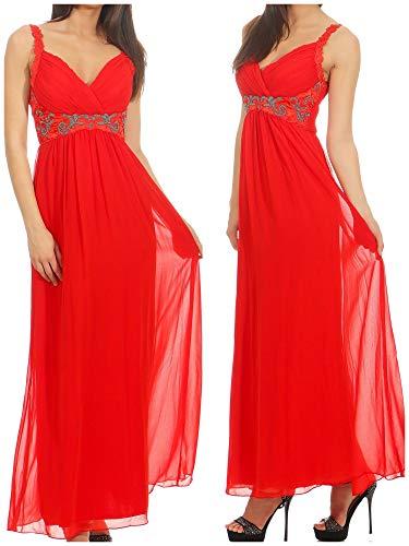 jane norman Damen Kleid (lang) 38905, Gr. 34 (UK 8), Rot (red)