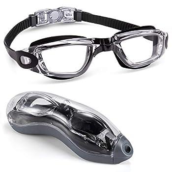 Aegend Swim Goggles Swimming Goggles No Leaking Anti Fog Adult Men Women Youth