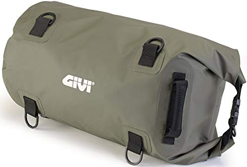 Givi Bolsa–Bolsa cilíndrica Impermeable para sillín o portaequipajes, 30l, Color Verde Caqui, EA114KG