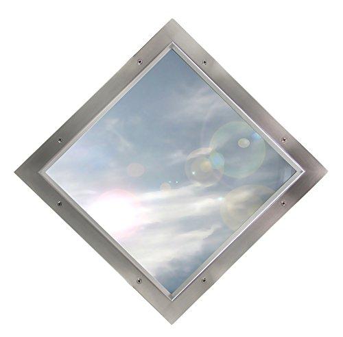 Edelstahl Bullauge TBAK-260 BS Quadrat Klarglas beidseitig verschraubt Türfenster
