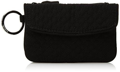 Vera Bradley Microfiber Jen Zip ID Case Wallet, Classic Black