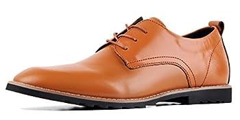 iloveSIA Men s Oxford Fashion Leather Shoes Brown US Size 10.5