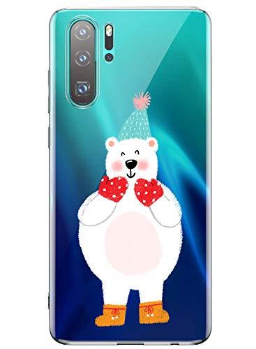 Oihxse ersatz für Huawei Mate 20 Lite Hülle,Transparent Silikon Schutzhülle für Huawei Mate 20 Pro,Crystal Clear Original Durchsichtige TPU Anti-Schock Anti-Scratch Kratzfeste (Mate 20 Lite,Bär-1)