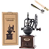 HASPOLIN Manual Coffee Grinder, Retro-Style Ferris Wheel Design Hand Grinder With Spoon and Cleaning Brush, Can be Used as An Exquisite Gift for Coffee Lovers.