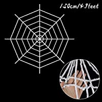 ハロウィーンデコレーション ホームバーの装飾のお化けハウスハロウィーンパーティーの装飾のための150/250cmブラックホリューハロウィーンのクモのweb巨大な伸縮性のあるコブーボー ハロウィーンの小道具 (Color : B02)