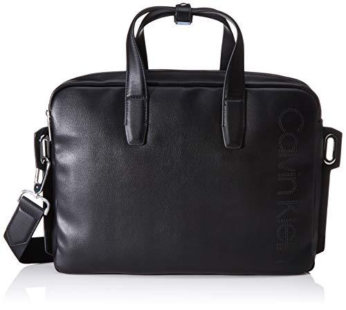 Calvin Klein Punched Laptop Bag, Herren Taschenorganizer, Schwarz (Black), 0.1x0.1x0.1 cm (W x H L)