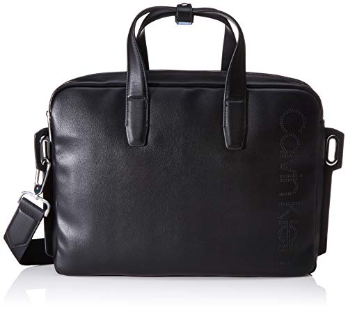 Calvin Klein Punched Laptop Bag - Borse organizer portatutto Uomo, Nero (Black), 0.1x0.1x0.1 cm (W x H L)