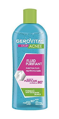 Gerovital Stop Acnee, líquido purificante, para pieles mixtas, grasas y con acné, 150 ml