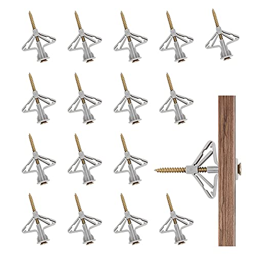 Hwtcjx tacos y tornillos, tacos pared, 50 juegos de tornillos pladur, Con tornillos a juego, duraderos, fáciles de instalar, para pánel de yeso, hormigón, pánel de madera (M8, 3,5 x 53mm)
