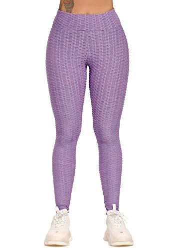 INSTINNCT Leggings Sportivi Sexy Donna Anti-Cellulite Butt Lifter Vita Alta Push Up Pantaloni Dimagranti per Palestra Jogging Yoga Fitness
