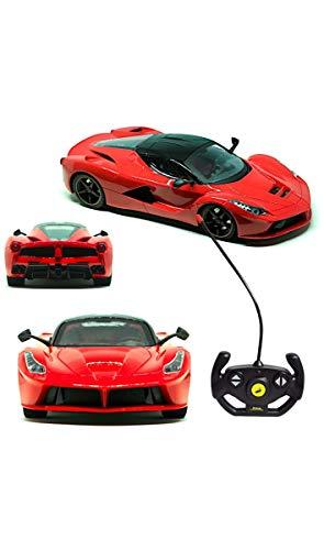 Carro Controle Remoto Sem Fio Sport 4 Funcoes 1:14 Com Luz E Recarregavel, DM Toys