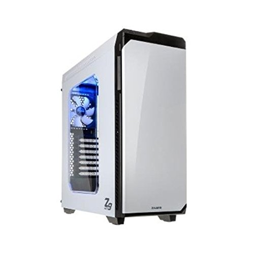 Zalman Z9Neo ATX/M-ATX/M-ITX Tower-Gehäuse, USB 3.0, mit transparentem Seitenpaneel, weiß