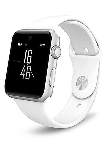 Mejor Comprar Acero Inoxidable 128M+64M Pantalla Táctil Smartwatch Soporte Tarjeta SIM/SD Pedemeter Anti-pérdida Monitor de Sueño A1, Blanco