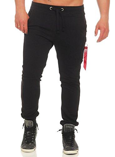 Alpha Industries Herren Hosen/Jogginghose X-Fit Loose Schwarz L