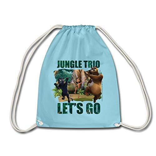 Spreadshirt Das Dschungelbuch Jungle Trio Auf Geht's Turnbeutel, Aqua