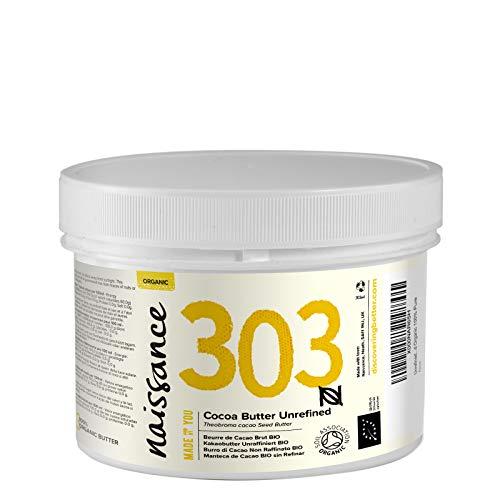 Naissance Beurre de Cacao Brut BIO (n° 303) - 250g – 100% pur et naturel, non-raffiné, arôme gourmand - végan et sans OGM