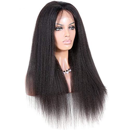 GCGY Porte Postiches Perruques abordables 360 Lace Front Perruques Perruques de Cheveux Humains de densité 130/150 / 180% Full Lace pour Femmes Noires