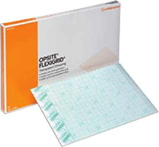 """Smith & Nephew Opsite Flexifex Transparent Adhesive Film Dressing 6"""" x 8"""", Water-proof (Box of 10 Each)"""