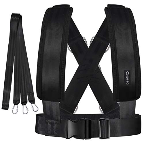 CLISPEED Fitness Sled Harness Workout Harness Exercise Speed Trainer with Pull Strap for Resistance Training