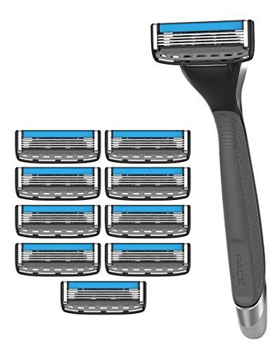 Dorco Pace 4 Pro - Four Blade Razor Shaving System - 10 Pack (10 Cartridges + 1 Handle)
