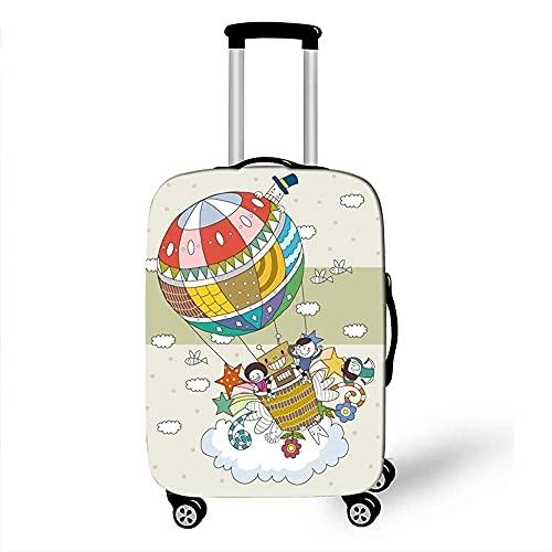 Funda para equipaje Impresión 3D de globos aerostáticos Protección para funda de equipaje Fundas para equipaje elásticas para protección de maletas de 18 a 32 (Color: C, Talla: S (18 '' - 21 ''))