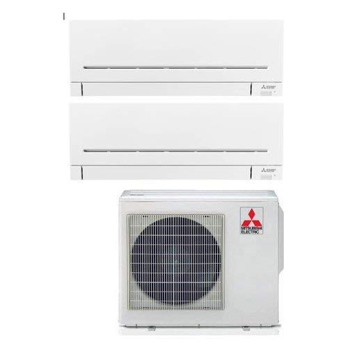 Climatizzatore Dual Split 9000 + 12000 Btu, Inverter, Pompa di Calore - MITSUBISHI MSZ-AP25+35VGK/MXZ-2F42VF2