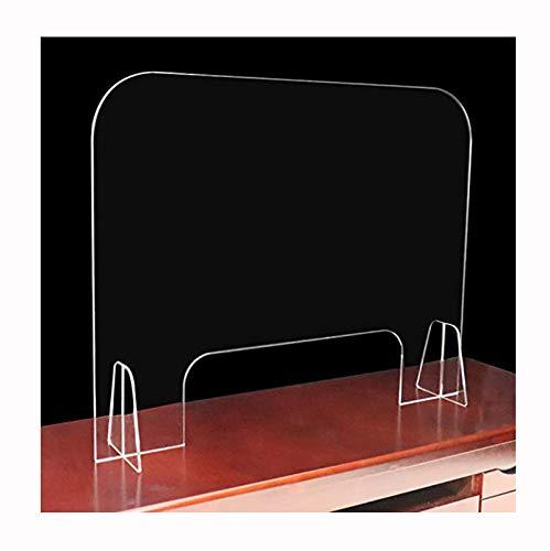 Apodis Spuckschutz Thekenaufsatz, Plexiglas Schutzwand mit Durchreiche, Transparente Acryl-Plexiglasplatte Verhindert Niesen und Husten und Wird für Empfang, Verhandlung und Supermarkt Verwendet