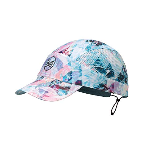 Buff Damen Pack Patterned Run Cap, R-Irised Aqua, One Size