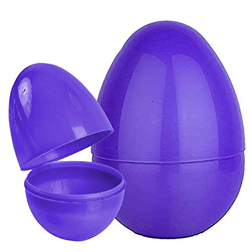 Playoly 1 Purple Jumbo Fillable Plastic Easter Egg Hunt Party Supply - 8-Inch Easter Eggs