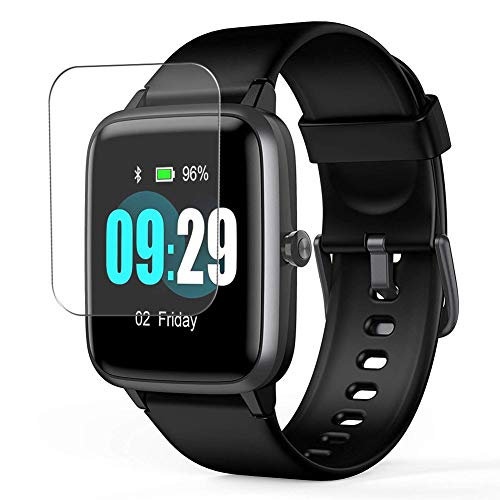 """Puccy 3 Pack Screen Protector Film, compatible with SKYGRAND/Letsfit/ANBES/Arbily/KUNGIX/LETSCOM/Fitpolo/YAMAY/Willful Smartwatch smart watch 1.3"""" TPU Guard ( Not Tempered Glass Protectors )"""