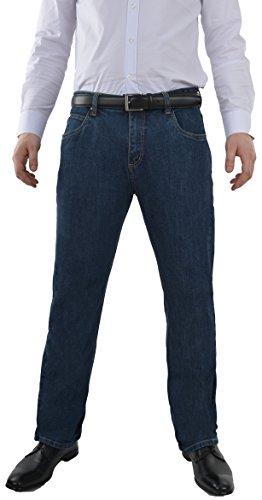 Marken Outlet Kriftel -  Jeans - Straight - Uomo Blu Denim 36W x 34L
