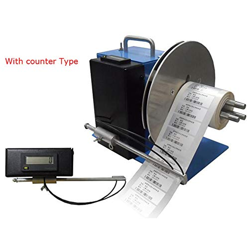 T-king 110V Automatic Barcode Label Rewinder Bar Code Adhesive Rewind Machine Max 100mm (Rewinder and Counter)