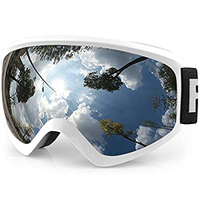 findway Kids Ski Goggles, Kids Snow Snowboard Goggles for Boys Girls Youth Teenagers,Over Glasses OTG Design,Anti Fog,100% UV Protection,Helmet Compatible