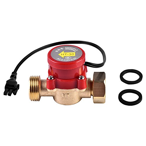 Interruttore pompa di flusso, HT-30 AC 0-110 V 0.2A G3 / 4'-3/4' Filetto Pompa acqua Interruttore sensore di flusso per doccia Bassa pressione dell'acqua Riscaldamento solare Circolazione dell'acqua
