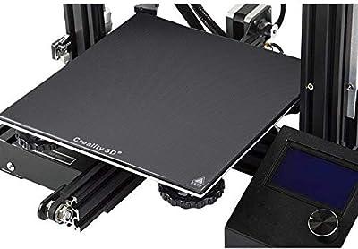 Gwisdom ENDER 3 Glass Bed, Original Hotbed Glass Build Plate for Creality 3D Printer Ender-3/ Ender-3 Pro, 235x235mm