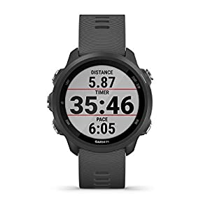 Garmin Forerunner 245 (Slate Gray) GPS Running Watch Power Bundle | with PlayBetter Portable Charger & HD Screen Protectors | Workouts, Training Status, Heart Rate | Running Smartwatch | 010-02120-00